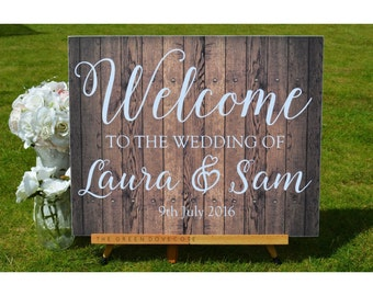 Custom Wedding Sign - Wedding Ceremony Decorations - Rustic Wedding Welcome Sign - Wedding Direction Signs - Wedding Reception Sign
