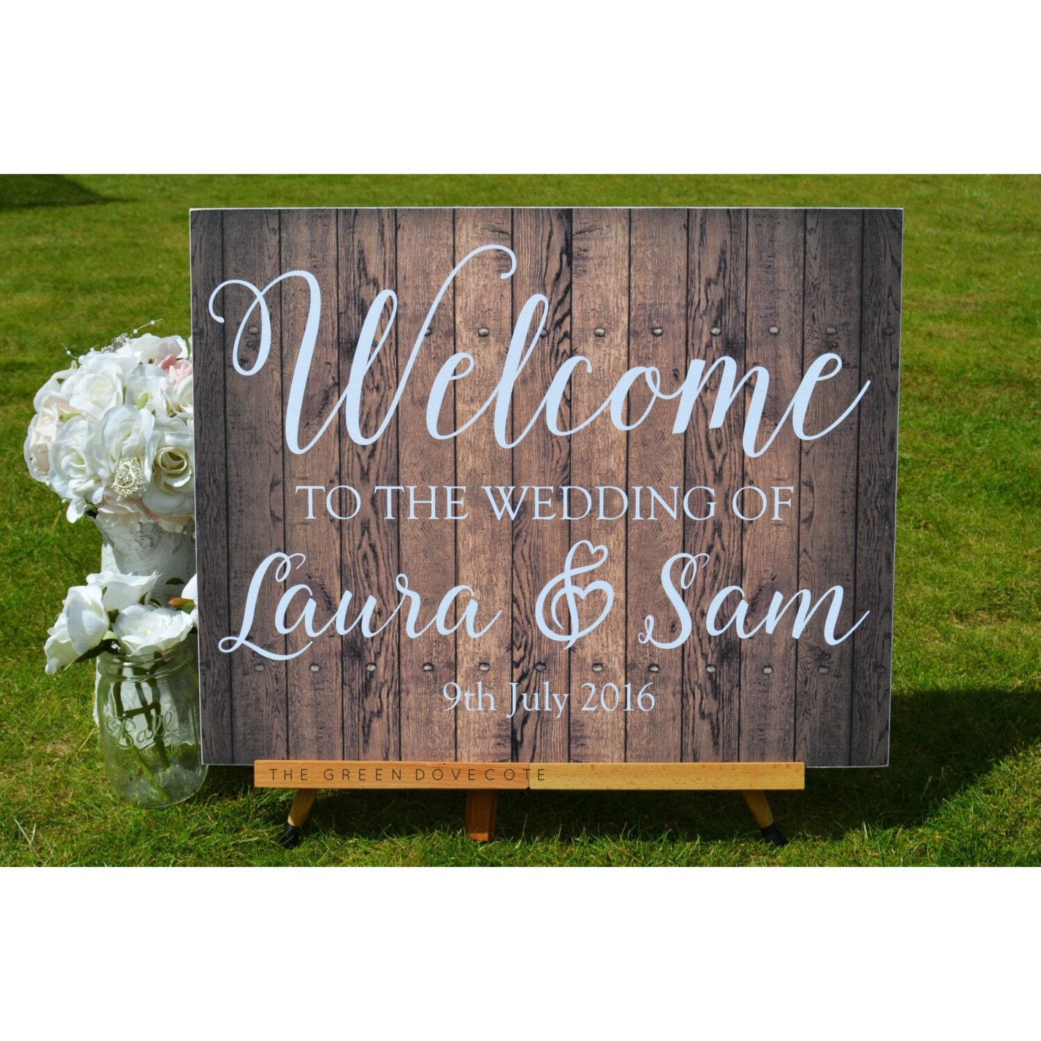Custom wedding sign wedding ceremony decorations rustic for Sign decoration