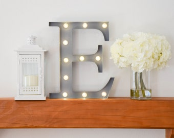 """Greek Letter Lights """"Epsilon"""" / Letter Marquee Light """"E"""" / Sorority Marquee Letters / Light up Letters / Sorority Lights / Marquee Signs"""