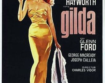 Vintage Gilda Rita Hayworth Movie Poster A3 Print