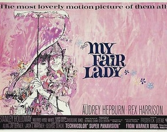 Vintage My Fair Lady Movie Poster A3 Print