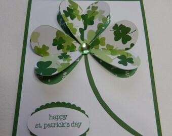 3-D Shamrock St. Patrick's Day Card