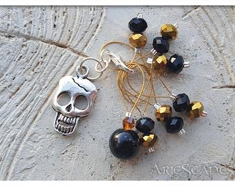 Dead Pirate Gold Stitch Markers