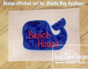 Whale Beach House Appliqué Design
