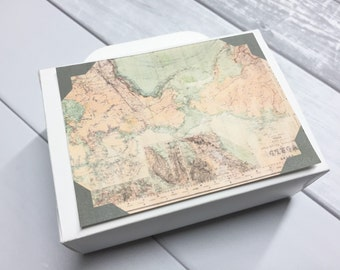 Suitcase Favor Box Suitcase Favors Suitcase Wedding Favors Destination Wedding Favor Wedding Vintage Map White Large Size 25 Included
