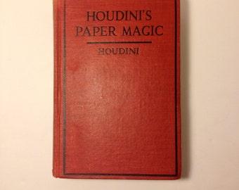 1922 Houdini's Paper Magic Illustrated Book.  Second Edition. RARE!!