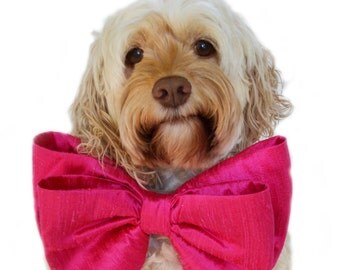Pink Bow Tie Collar- Big Dog Bow- Oversized  bow -Birthday Bow tie for dogs-Birthday Dog Bow- Party Dog Bow