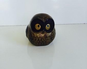 Vintage Otigiri Owl OMC Japan Figurine