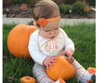 Pumpkin Headband for Fall - Fall Headband for Girls -Thanksgiving Headband - Harvest Headband - Burnt Orange Headband - Fall Photo Prop