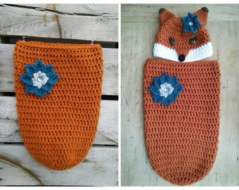 Fox Sleep Sack Baby Cozy Crochet