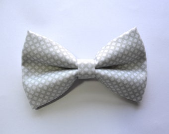 Waffle Grey Bow Tie For Boy/Baby/Teen/Adult/With Adjustable strap/Clipon