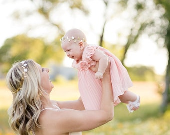 Mommy and Me Crown, Greek Flower Crown, Matching Crowns, Gold Crown, Flower Crown, Mommy and Baby Flower Crown, Mommy and Me Minis