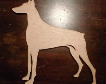doberman cutout/custom dog cutout LARGE