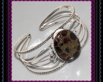 HUGE Copper Garnet Bangle