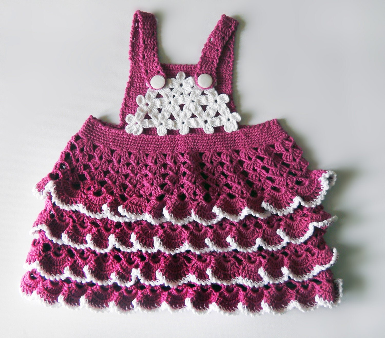 Baby clothing baby girl skirt cotton dress hand crochet toddler hand ...