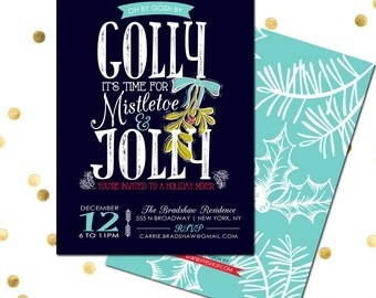 holiday party invite etsy - Christmas Cocktail Party Invitations