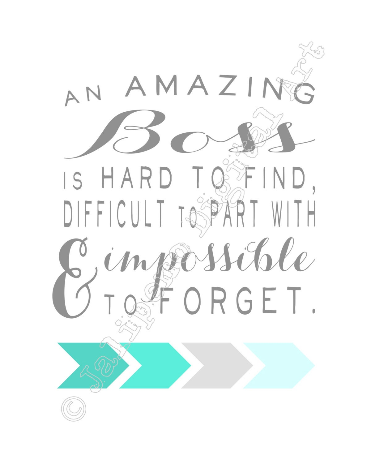 Farewell Thank You Quotes: An Amazing Boss Is Hard To Find Printable Quote Farewell