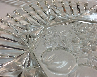 c.1930 Pressed Glass Platters