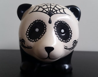 Hand painted panda money box
