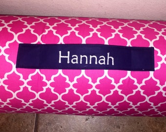 Kindermat Cover With Monogrammed Pillow And Minky By