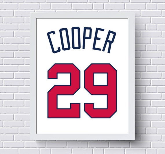 Atlanta braves print poster baseball jersey gift for him like this item negle Choice Image