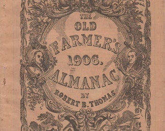 Old Farmer's Almanac, 1906 by Robert B. Thomas, good shape