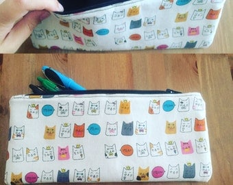 Pencil case japanese kitty