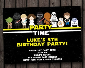 FAST customized star wars invitation, the force awakens invitation, star wars birthday invitation, star wars party invitation, new star wars