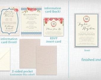 Wedding Invitations: Taylor + Hayden