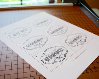 INSTANT DOWNLOAD Will You Be My Groomsman? Gift Tags - Antlers