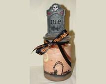 Hand painted gift jars- Halloween Art Work