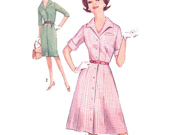 Simplicity 5027 Misses' One-piece Dress with two Skirts in half Sizes  - estimated Vintage 1970's  Size:  12.5  Bust 33  Used
