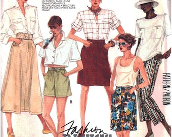 McCalls Sewing Pattern 3055 Misses' Skirt, Pants, Shorts  Size:  14  Uncut