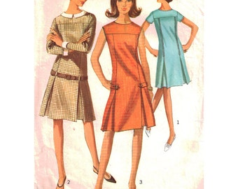 Simplicity Sewing Pattern 6347 Misses' Dress with detachable collar and cuffs - estimated vintage 1960's  Size:  10  Bust 31  Used