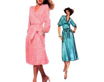 Vogue Sewing Pattern 1853 Misses' Wrap Dress by Dian Von Furstenberg  Size:  14  Uncut