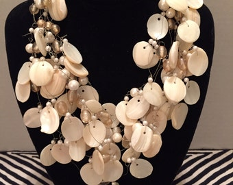 Multi-strand Mother of Pearl Necklace