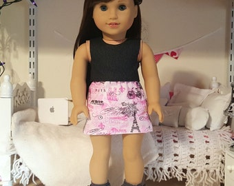 18 inch doll paris skirt and crop top