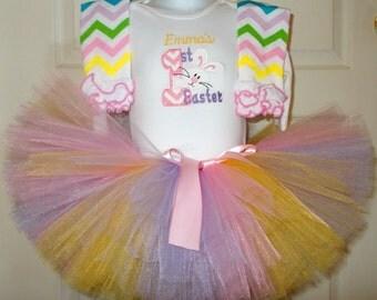 Baby Girl Easter Tutu Set, Baby Girl First Easter Outfit, Girl First Easter Outfit, Girl 1st Easter Outfit, Easter Tutu Set