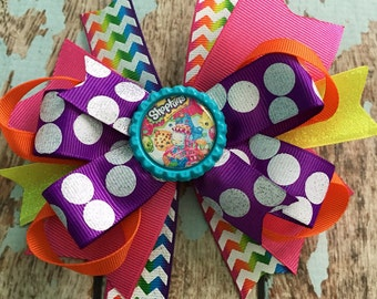 SHOPKINS Girly Dainty Stacked Twisted OTT Boutique Bow Photo Prop
