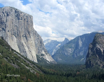 Yosemite Photography Print / El Capitan / Mountain / Nature Photography / Home Decor / Wall Art / California Photography / Sierra Nevada