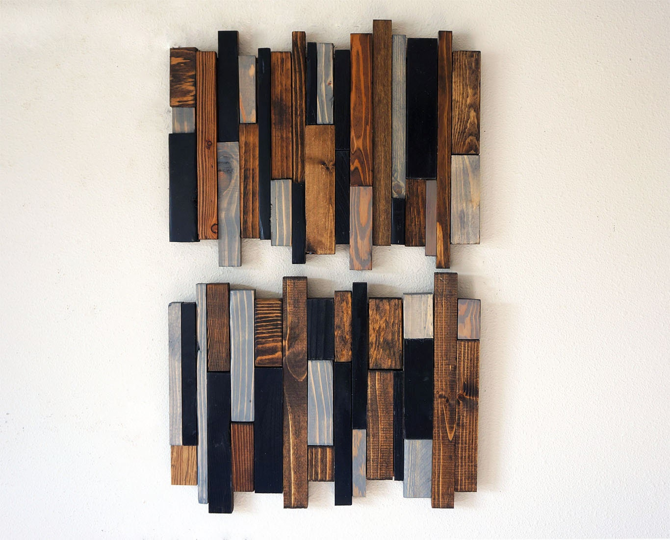impressive reclaimed wood wall hanging table
