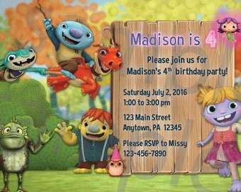 Wallykazam Birthday Invitation, 5x7 or 4x6, DIGITAL file
