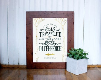 The Road Not Taken | Robert Frost Wall Art Print
