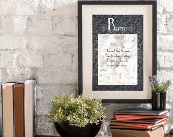 January Garden in Winter A Year of Rumi Inspirational Quote Artwork Print Poster