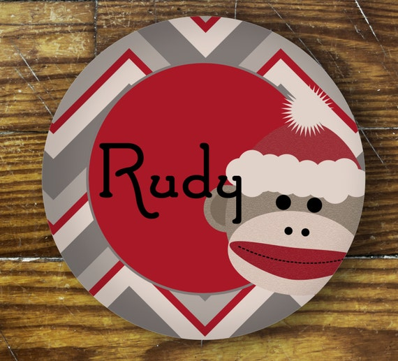 Personalized Dinner Plate or Bowl - Rudy