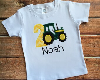 Tractor Birthday Shirt- personalized with name and age