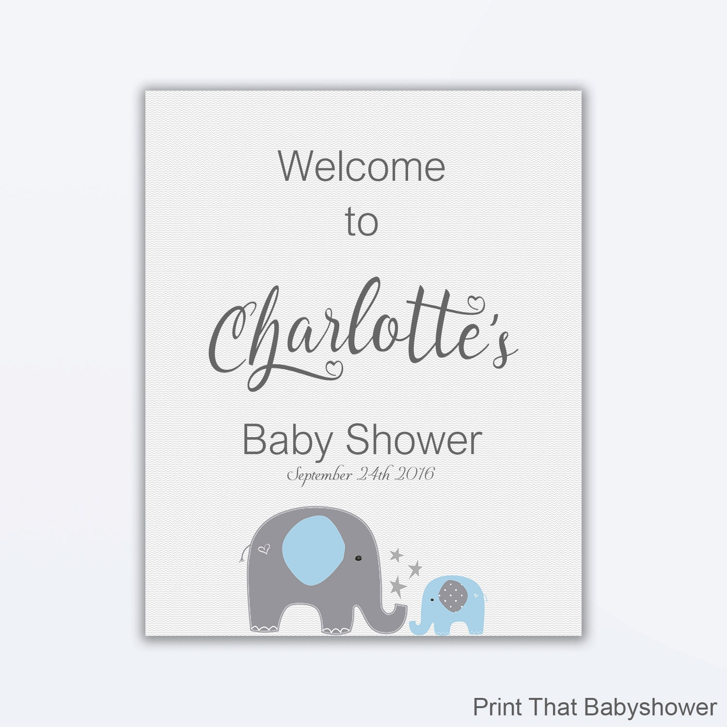 elephant baby shower welcome sign personalized welcome sign