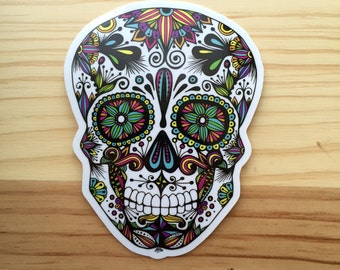 Zentangle - Sugar Skull Sticker