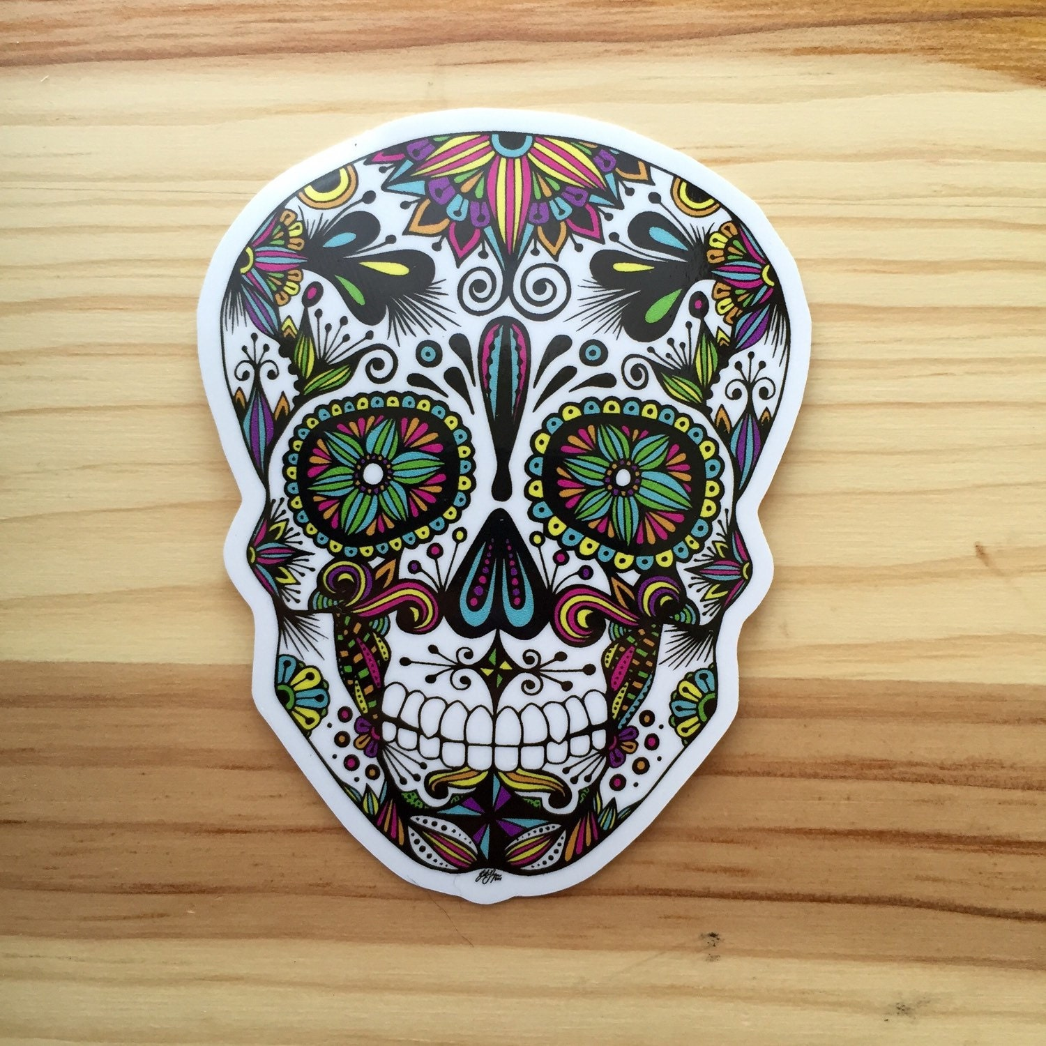 Sugar Skull Bathroom Decor Zentangle Sugar Skull Sticker