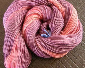 Hand dyed variegated gradient 'Spring Berries' 5 ply